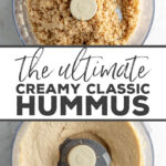 The ultimate easy-to-make, perfectly smooth and creamy, homemade hummus recipe! Perfect dip for game day, snacking, and more! We inhale this!