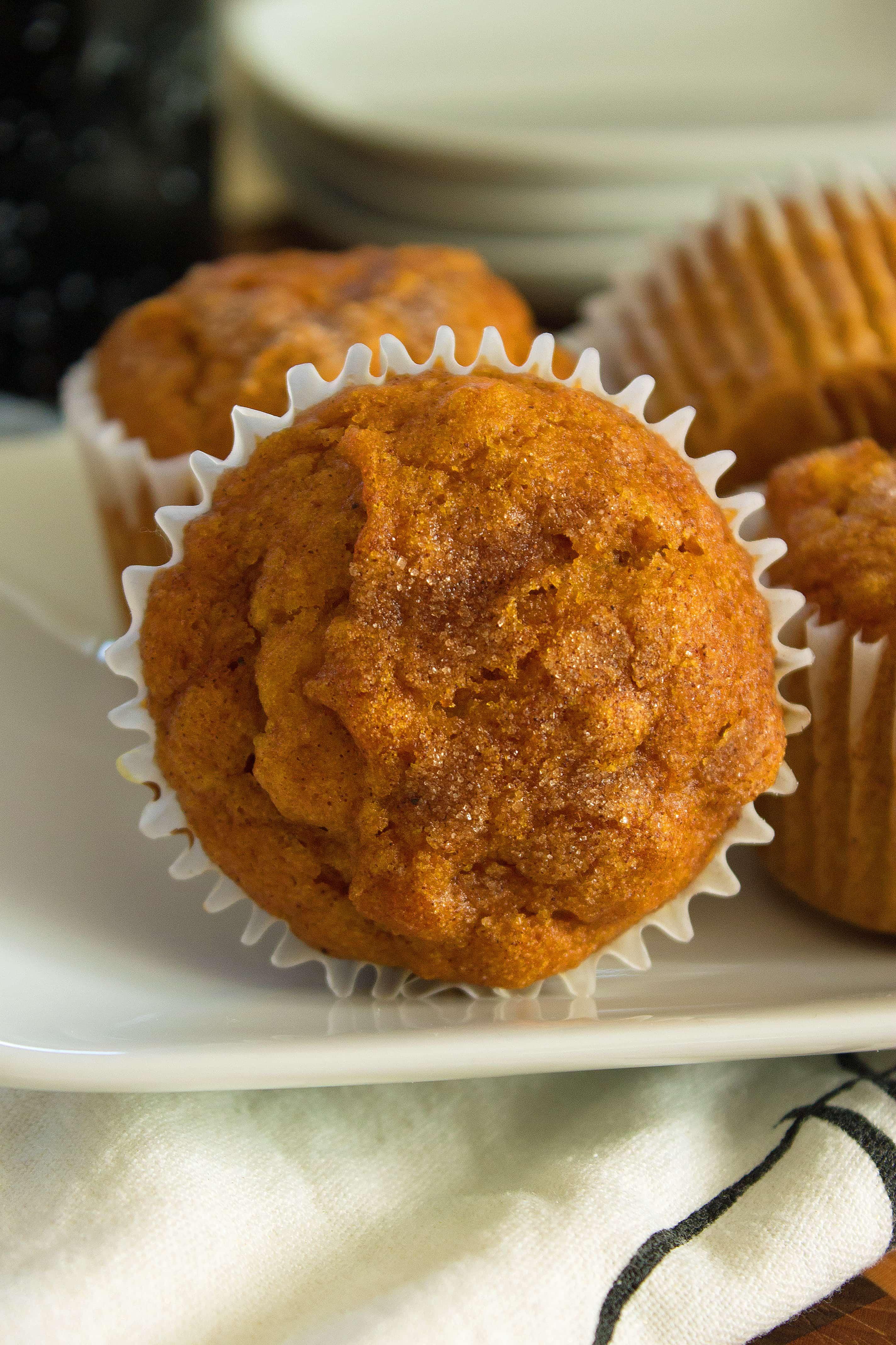 pumpkin muffins close up