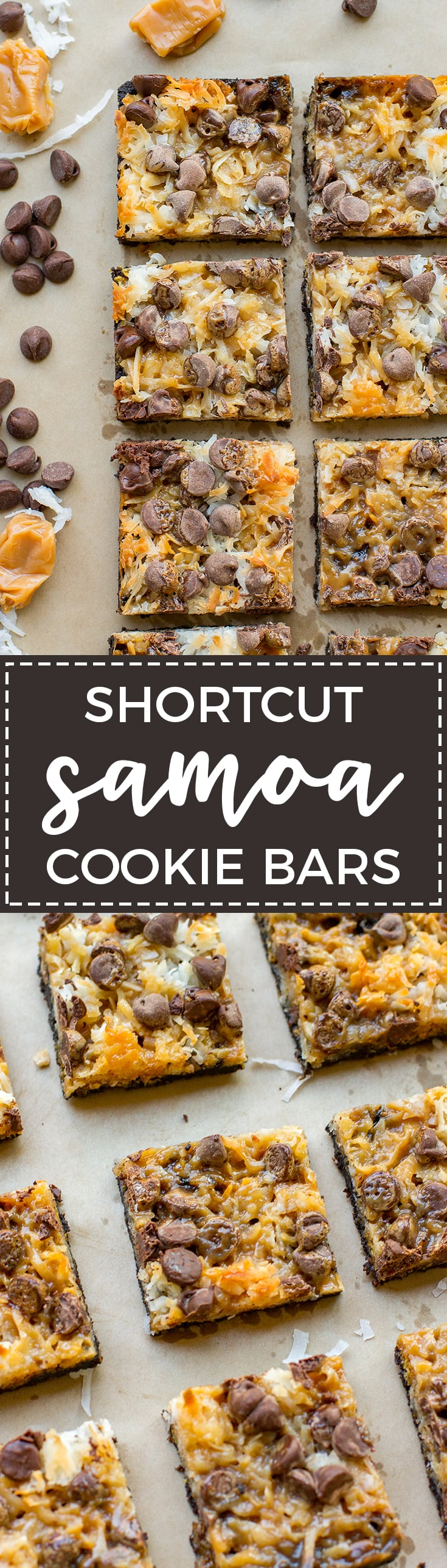 ... sweetened coconut, and a decadent Oreo crust combine to make the  ultimate shortcut Samoa cookie bars. Whether you know them as Samoas or  Caramel Delites ...