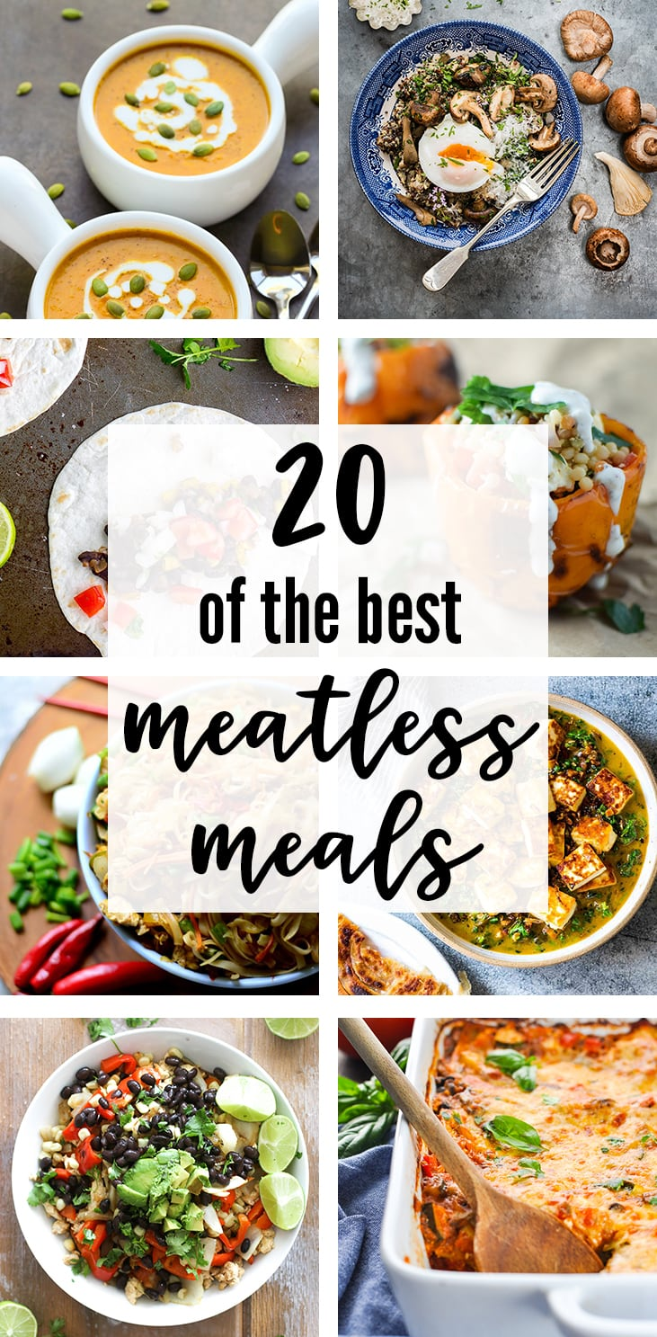 20 Of The Best Meatless Meals | A roundup of easy, delicious vegetarian dinner ideas | nourish-and-fete.com