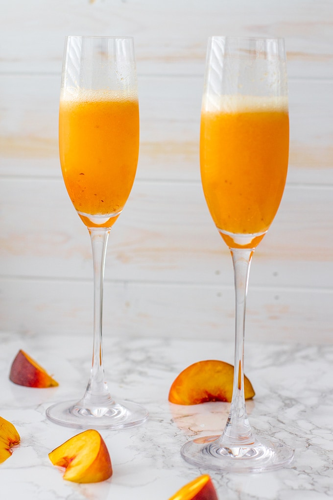 Bellinis Two Ways Classic Peach And Rosemary Plum