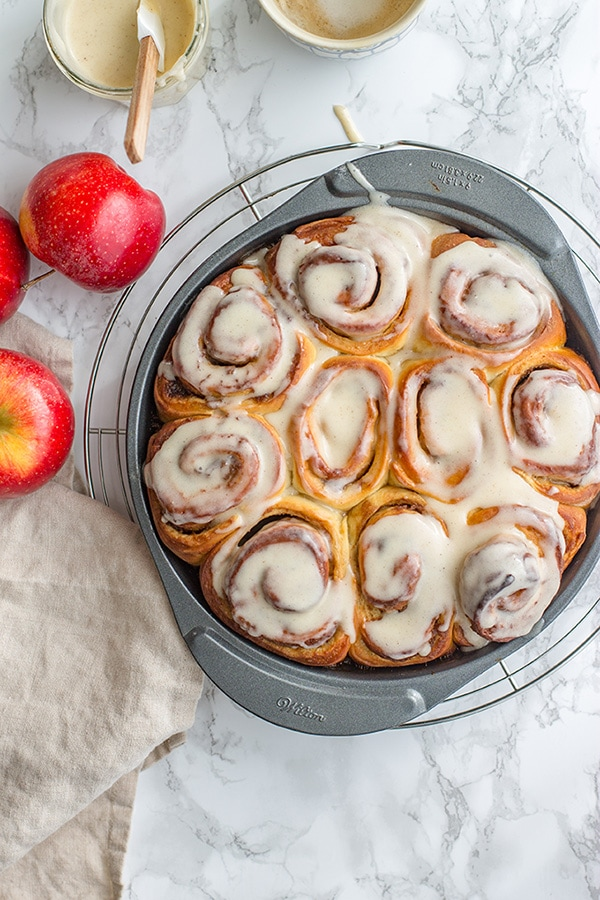 Overnight Apple Butter Cinnamon Rolls