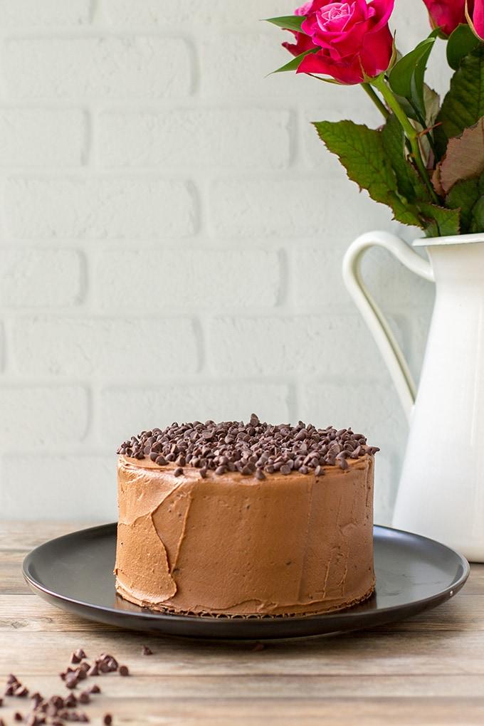 One-bowl mini chocolate cake with mocha buttercream.