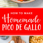 Homemade pico de gallo is easy to make, delicious, and much more fresh than any packaged product. The perfect homemade salsa! #picodegallo #salsa