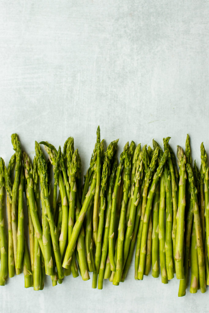 An army of asparagus, all lined up and ready to roast.