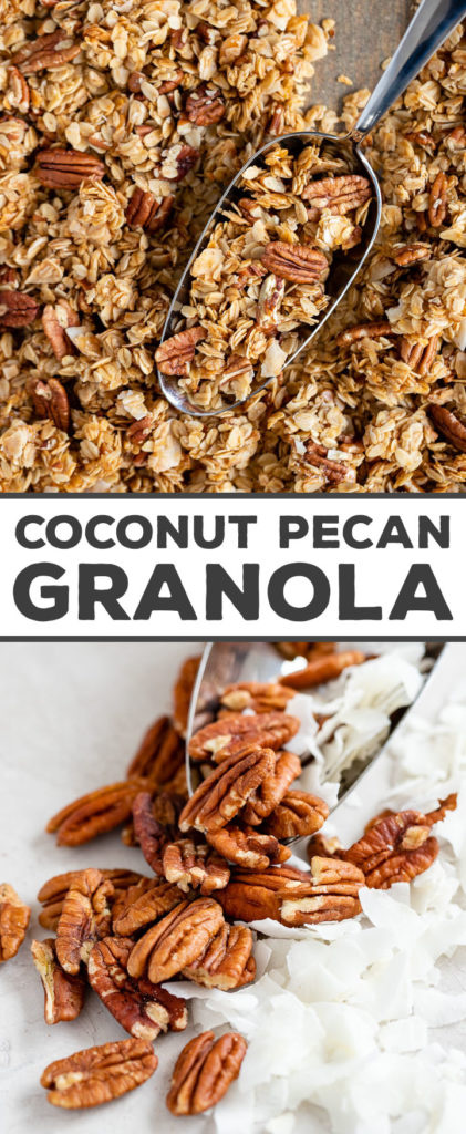 Go-To Coconut Pecan Granola - Nourish + Fete