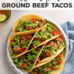 Love Mexican food!? You NEED to try this easy and ultra-flavorful recipe for ground beef tacos made in the Instant Pot! Just add salsa, canned green chilies, and taco seasoning for the simplest and most well-seasoned taco filling of your dreams!