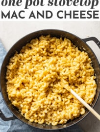 Delicious one pot mac and cheese is the ultimate easy lunch, dinner, or side. This easy kid friendly recipe takes just 15 minutes start to finish and comes together entirely in one pot - you don't even need to boil water separately for the noodles. This is as easy as the boxed stuff but better tasting and better for you! #macandcheese #easyrecipes #kidfriendlyrecipes